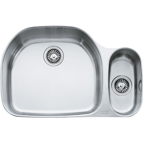 Franke PCX16009 Prestige Double Bowl Undermount Sink with Right Hand Side Small Bowl