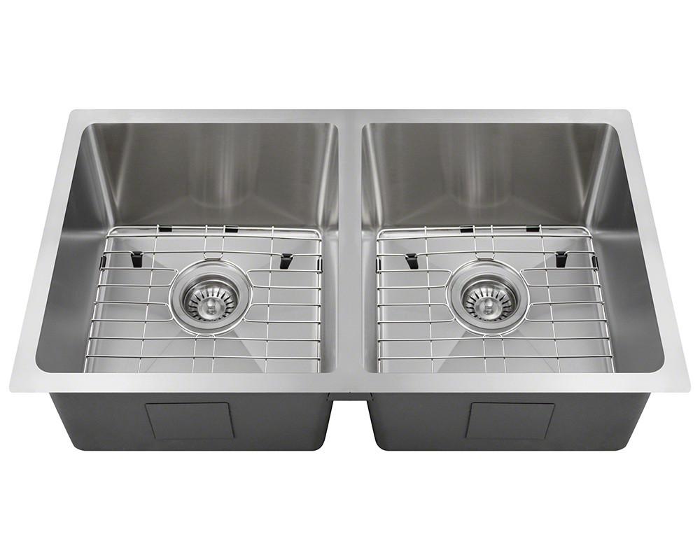 Polaris SinksPD0213-ENS 18 Gauge Kitchen Ensemble Bundle - 5 Items