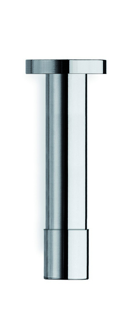 Aquatica PD926CP Solid Brass Ceiling Mounted Small Bathroom Shower Arm In Chrome