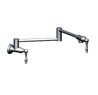 Franke PF3380 One Lever Handle Kitchen Faucet with Swivel Spout In Satin Nickel