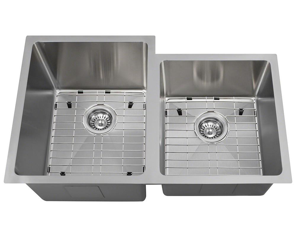 Polaris Sinks PL0213-ENS Double Bowl 18 Gauge Kitchen Ensemble