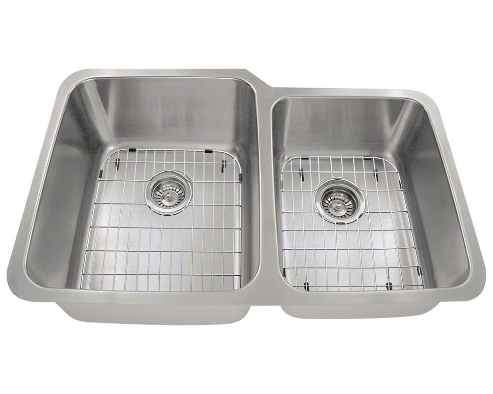Polaris Sinks PL315-ENS 16 Gauge Undermount Kitchen Sink Ensemble