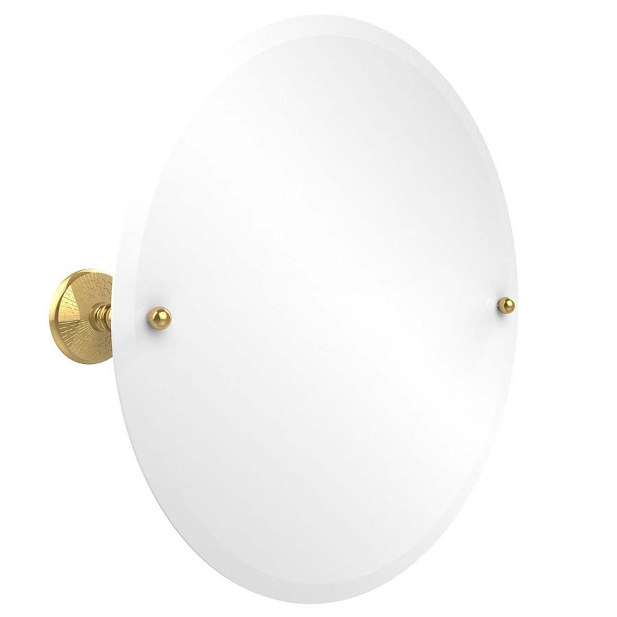 Allied Brass PMC-90-PB Round Mirror with Beveled Edge in Polished Brass