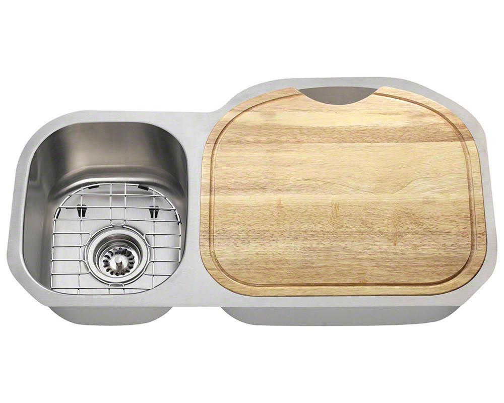 Polaris Sinks PR105-16-ENS Stainless Steel 16 Gauge Kitchen Ensemble