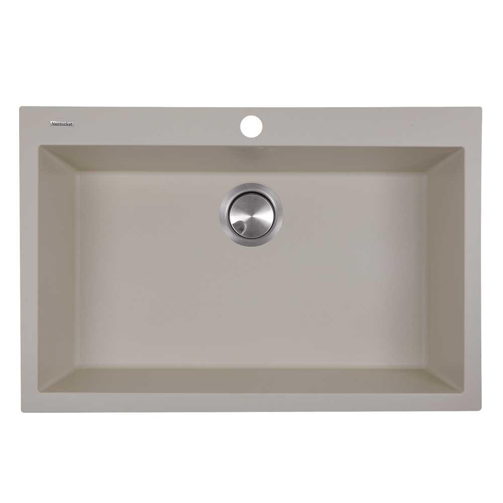 Nantucket Sinks PR3020-DM-S Granite Composite Kitchen Sink In Sand