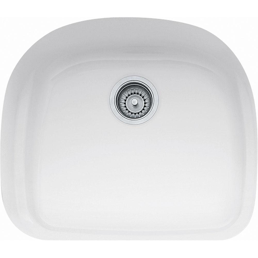 Franke PRK11021WH Prestige Single Bowl Undermount Fireclay Sink in White