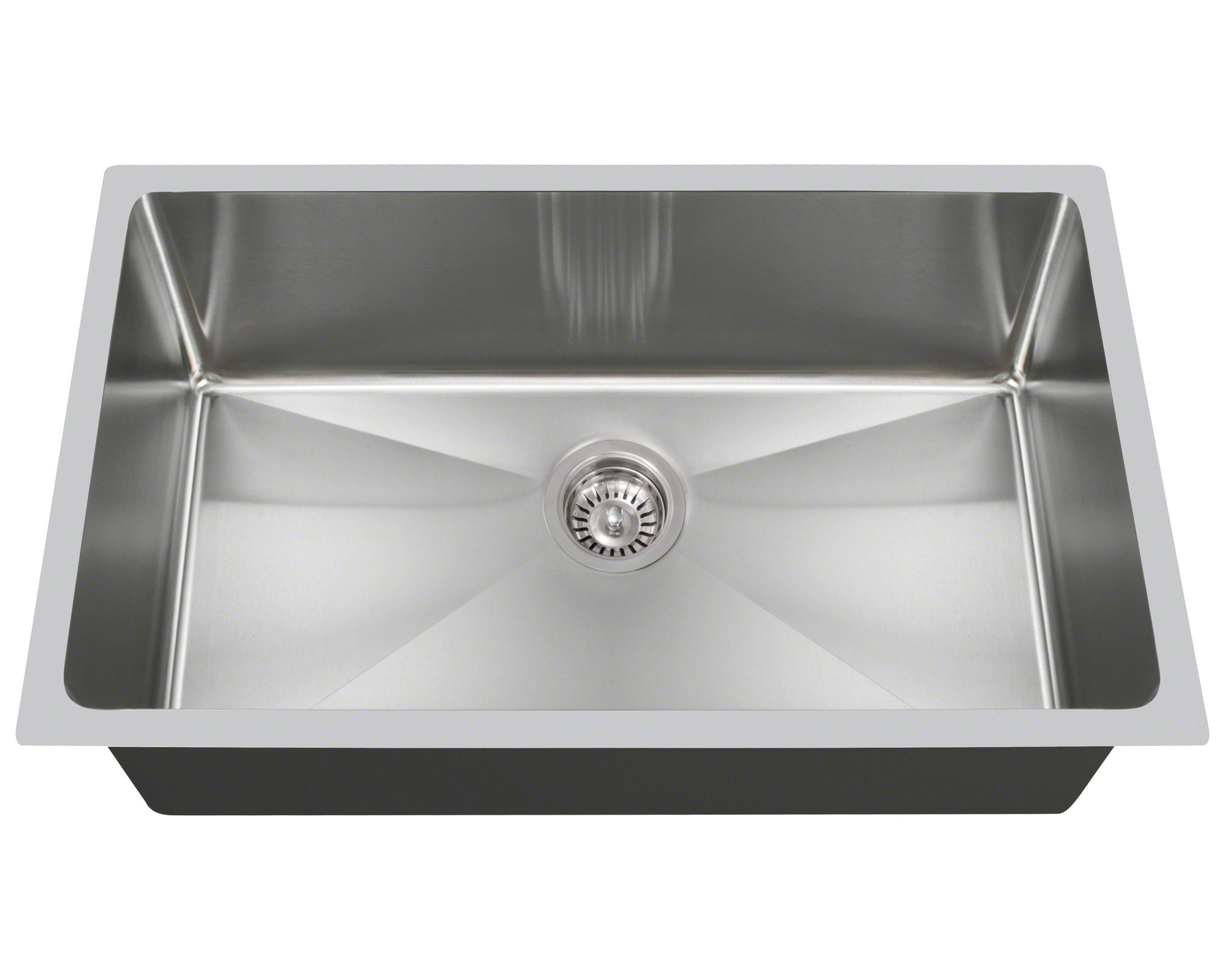 With its curved corners, the PS0213 is designed to provide a softer look and easier cleaning. It is the larger of the two single-bowl, 3/4'' radius sinks that we offer. Certain to handle any size kitchen chore, the PS0213 is formed from a single piece of