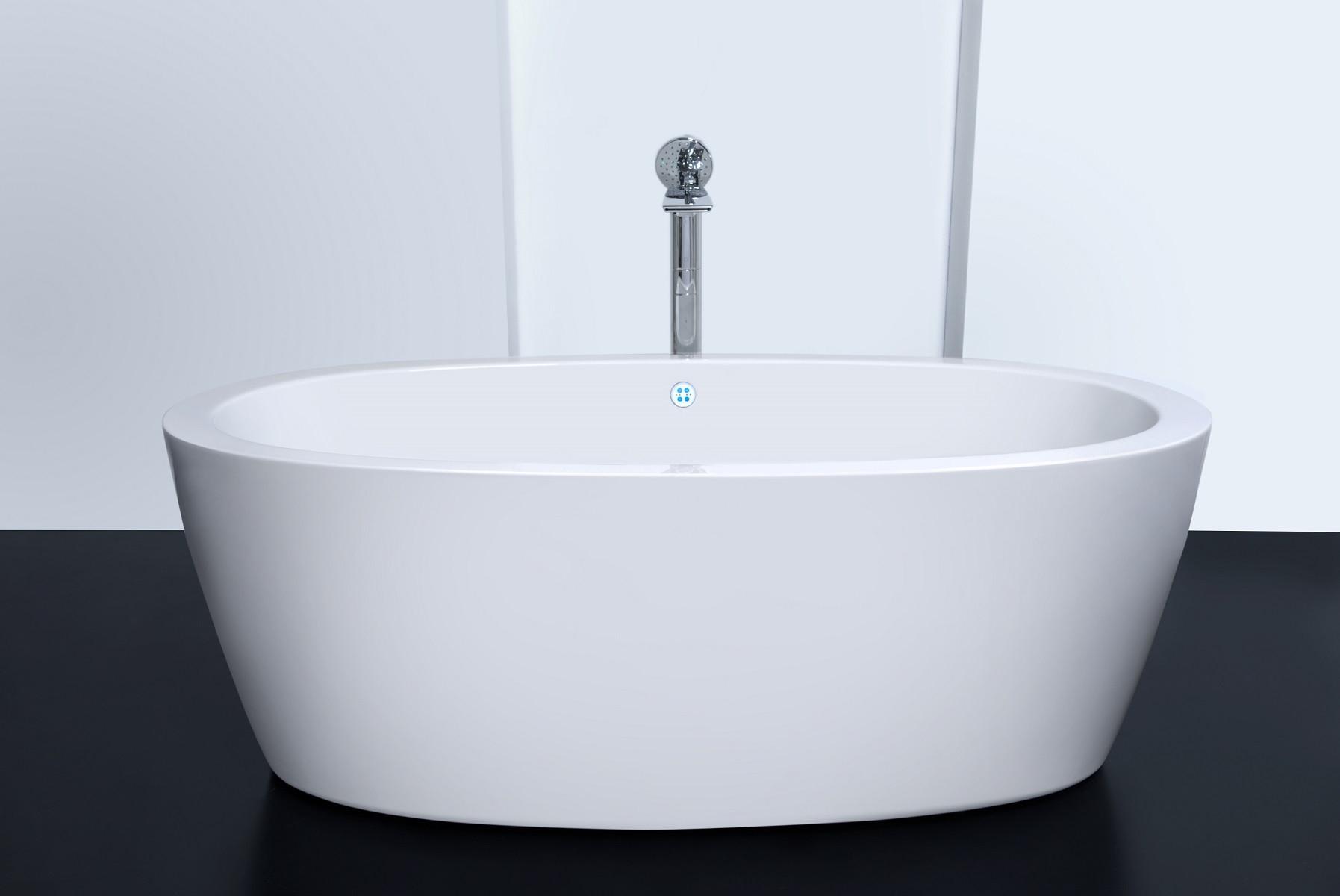 Aquatica PS174A-Wht-Rlx Free Standing Relax Air Massage Bathtub In White