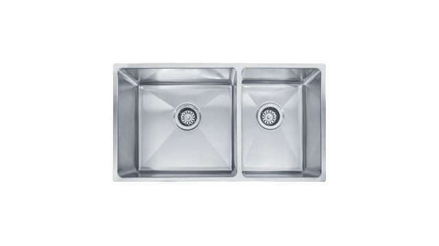 Franke PSX120309 Professional Offset Double Bowl Undermount Kitchen Sink