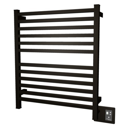 Amba Q2833O Quadro Hardwired Straight Square Bars Bathroom Towel Warmer In Oil Rubbed Bronze