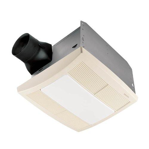 Broan QTR080L Very Quiet Bath Fan, Fan/ Light/Night Light in White Grille
