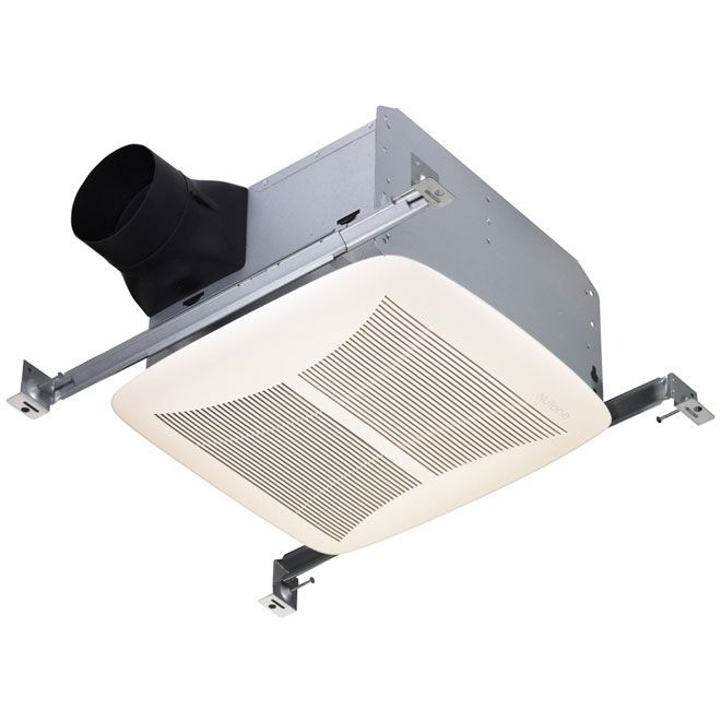 Broan QTREN080 White grille Quiet Ventilation Fan - ENERGY STAR® Qualified