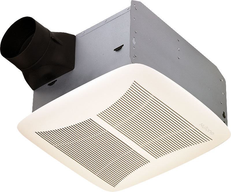 Broan QTRN110 4 Inch Duct Ultra Silent Bath Ventilation Fan White Grille