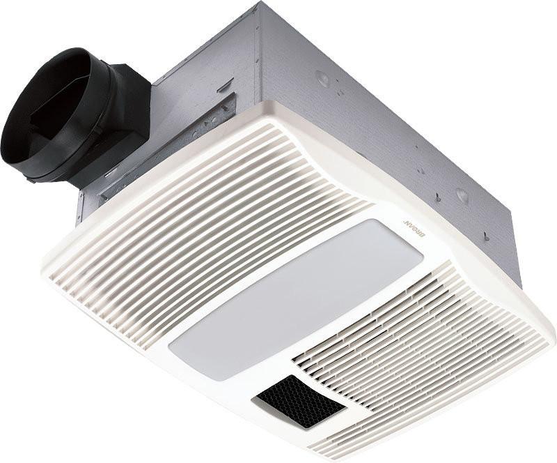 Broan QTX110HFLT Rectangular Quiet Ventilation Fan/Heater/Fluorescent Light