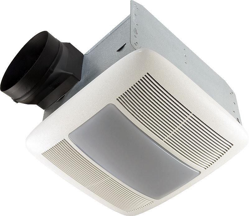 Broan QTXEN080FLT Energy Star Qualified Fan With Fluorescent Light-Bulb