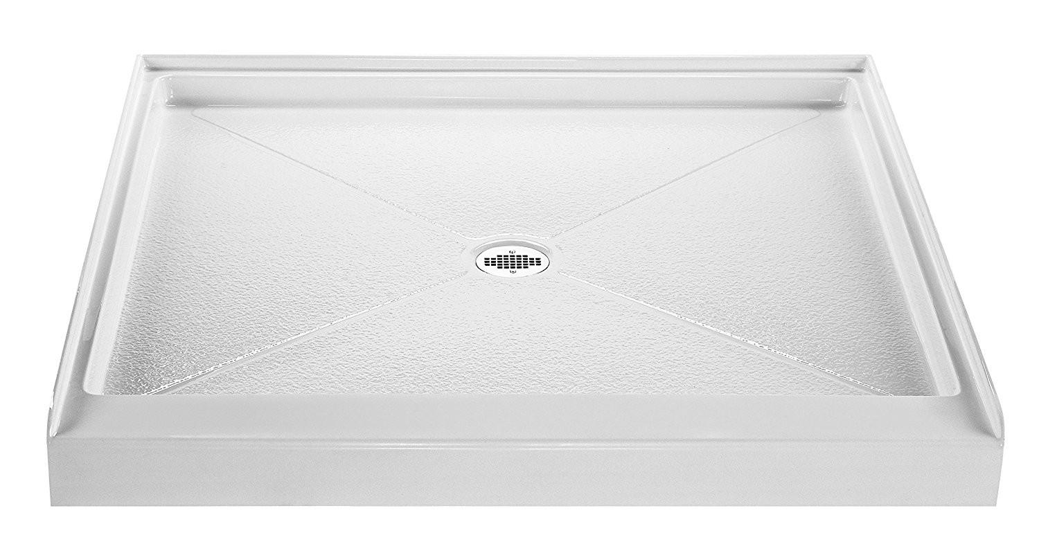 Reliance R3636CD-B 36 x 36 Inch Shower Base In Biscuit With Center Drain