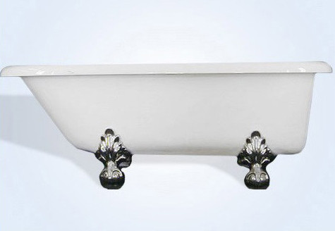 Restoria R553-WH Monarch Biscuit Traditional Tub with Tub Wall faucet holes