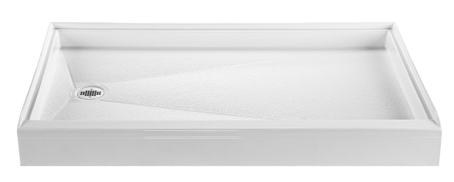 Reliance R6030ED 60-Inch By 30-Inch Acrylic Shower Base With PVC Drain