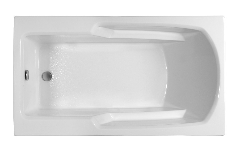 Reliance R6032ERRS 59.25 Inch Rectangular End Drain Soaking Bath