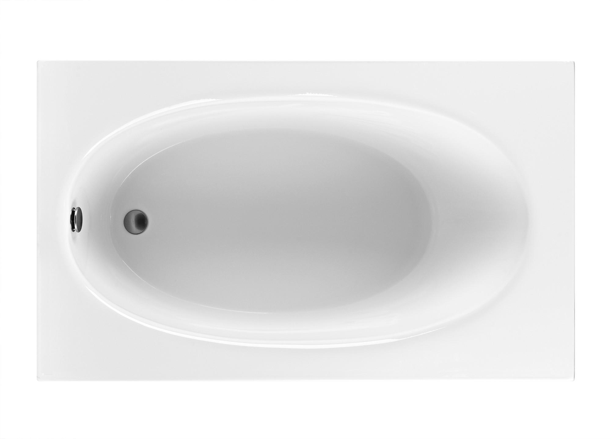 Reliance R6036EROS 59.25 Inch Rectangular End Drain Soaking Bath