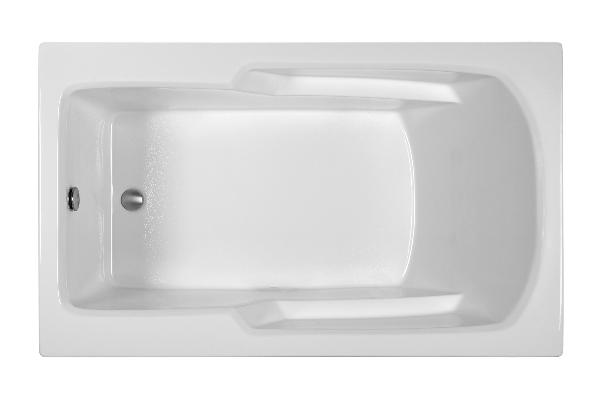 Reliance R6036ERRS 59.75 Inch Rectangular End Drain Soaking Bath