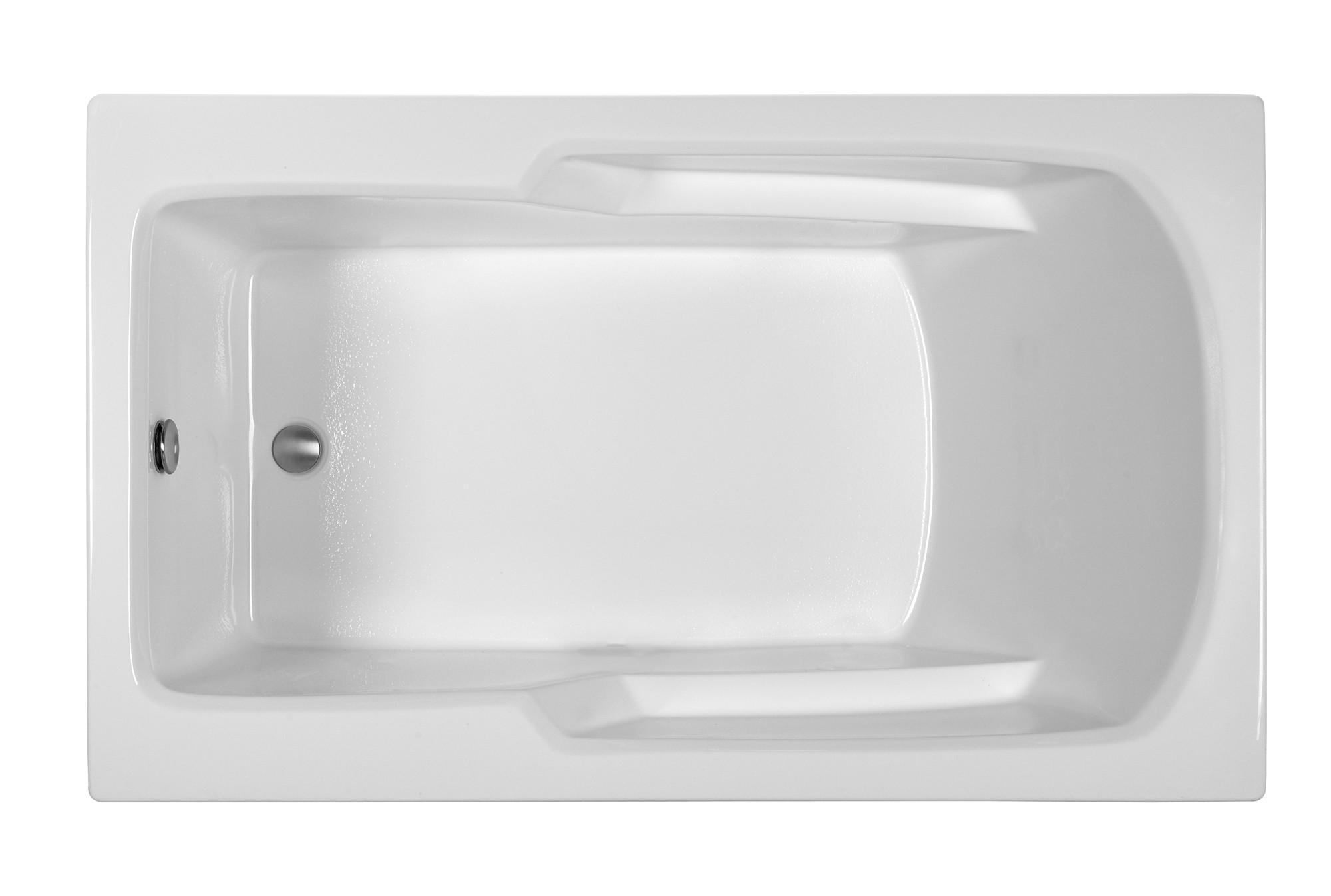 Reliance R6036ERRW 59.75 Inch Rectangular End Drain Whirlpool Bath