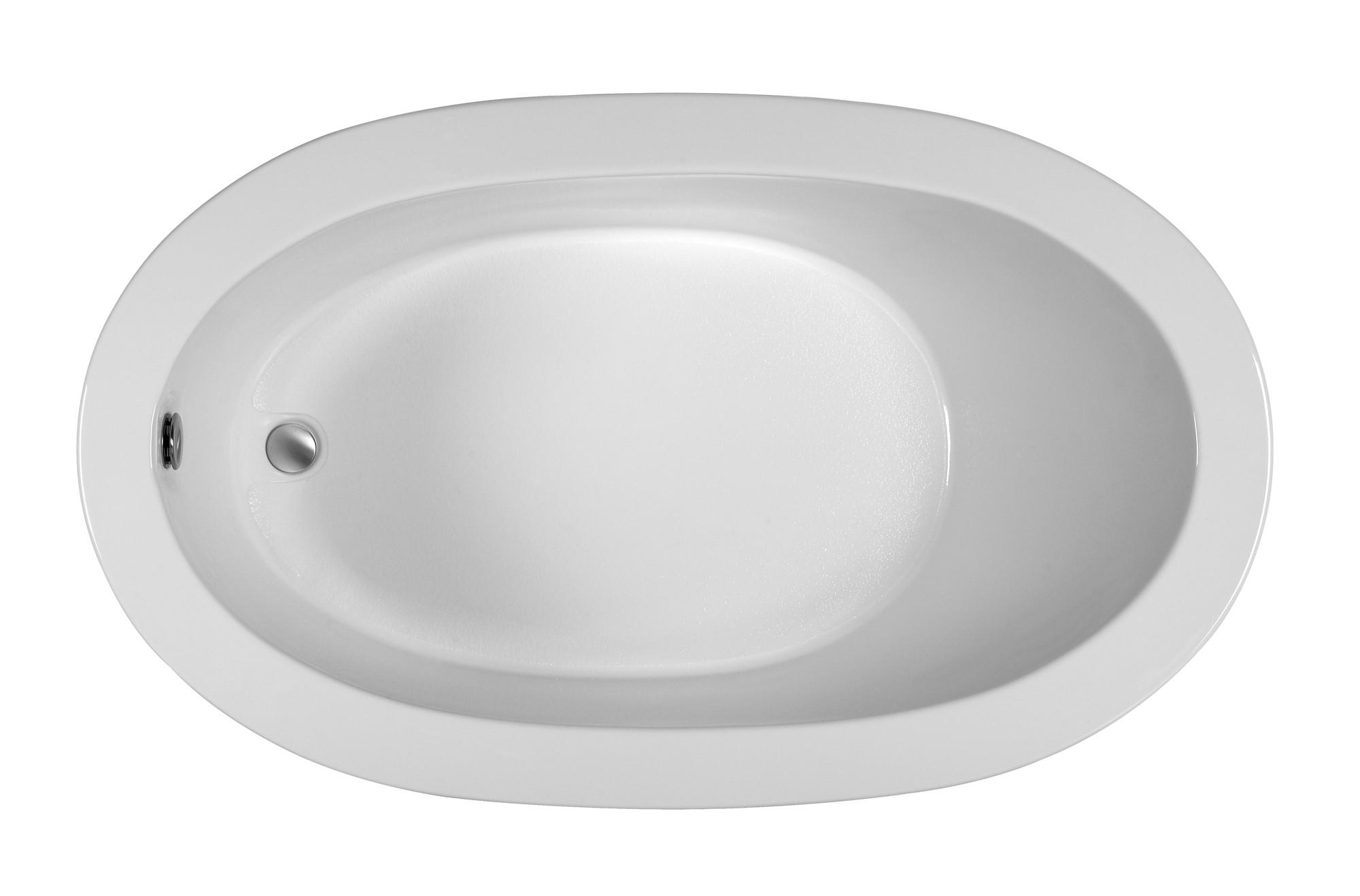 Reliance R6036ODIW 59.5 Inch Oval End Drain Whirlpool Bath