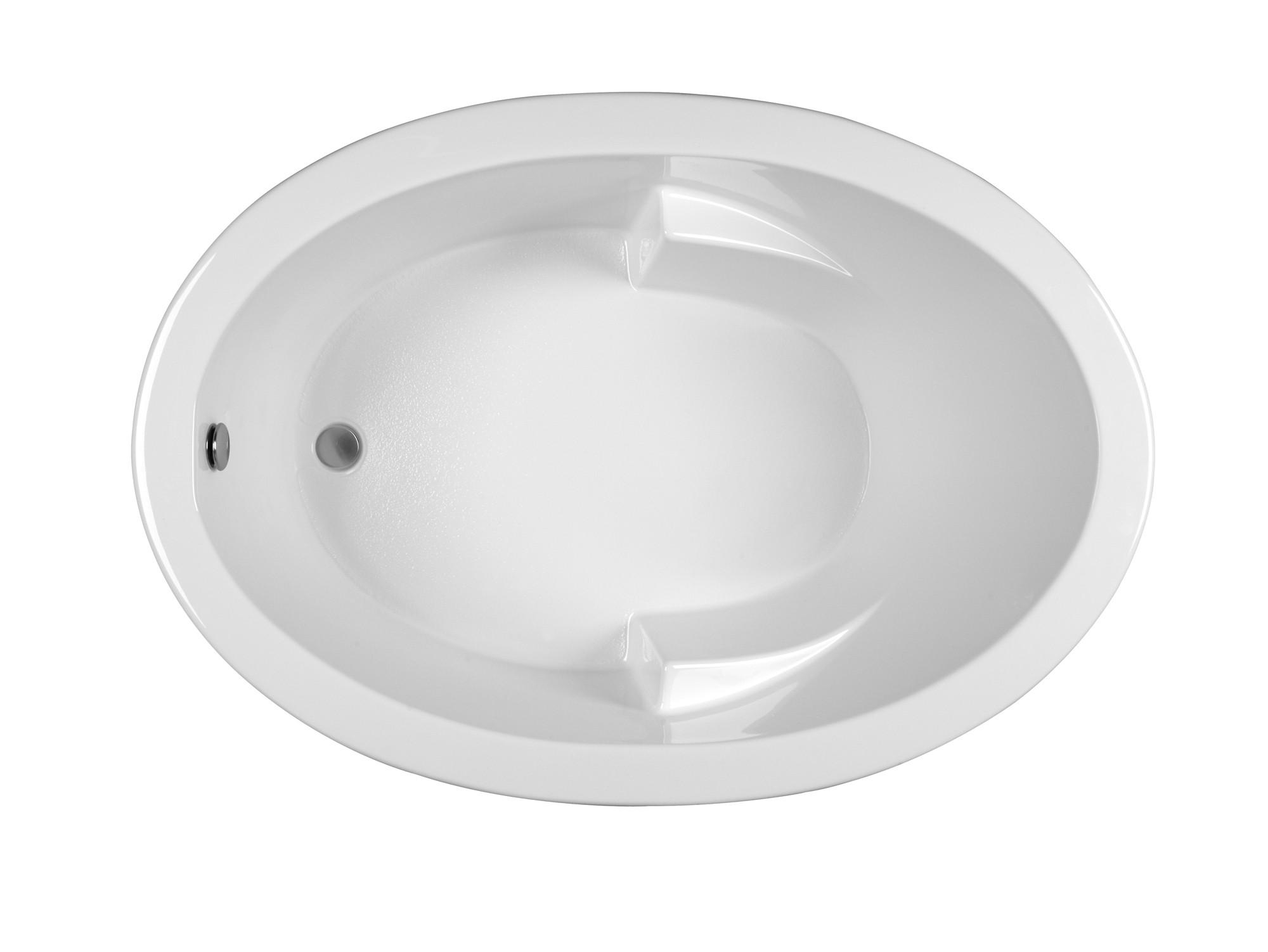 Reliance R6042ODIW 59.5 Inch Oval End Drain Whirlpool Bath