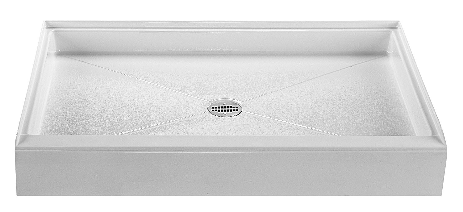 Reliance R6048CD 60-Inch By 48-Inch Shower Base With Center Drain