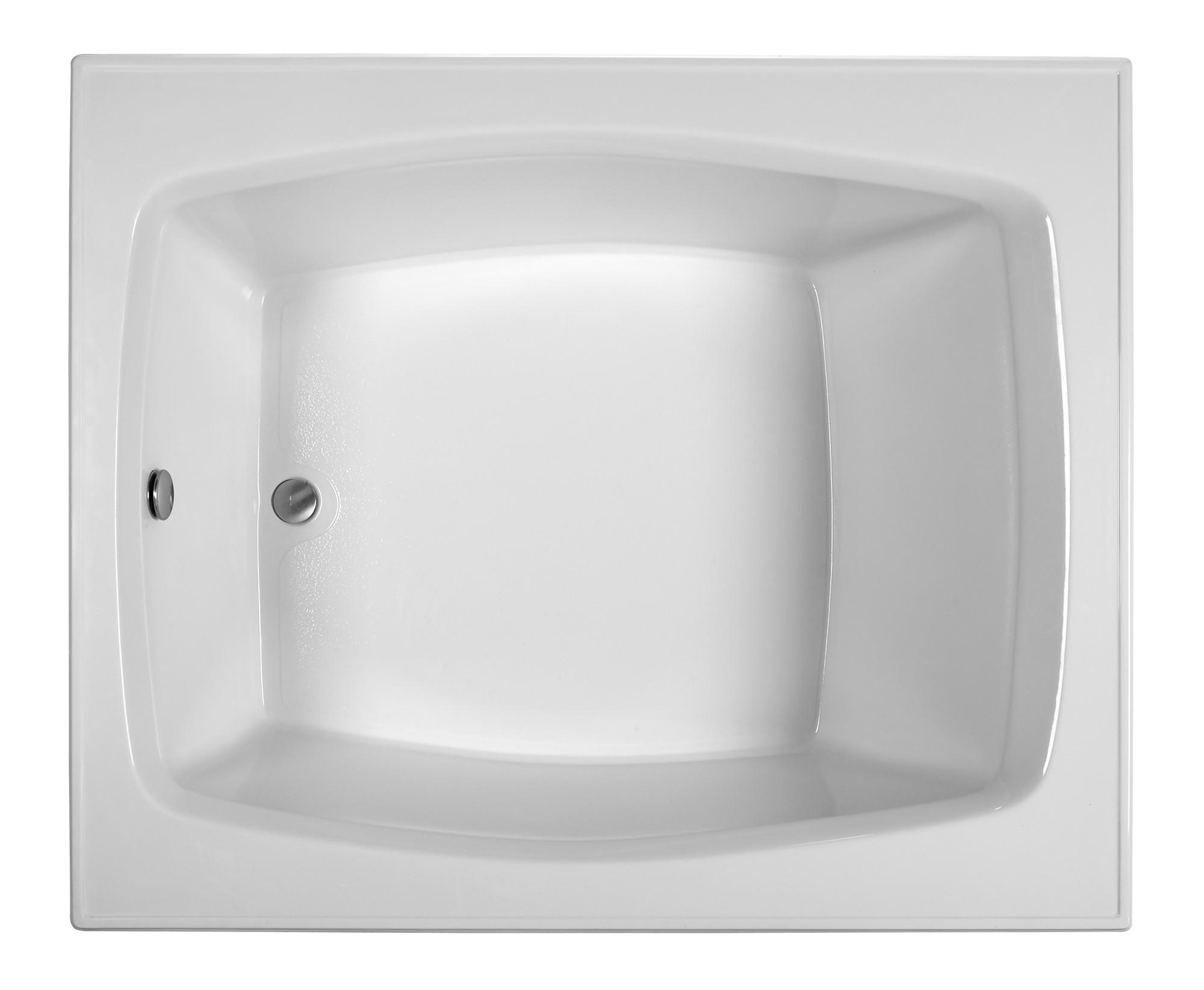 Reliance R6048ERXW 59.25 Inch Rectangular End Drain Whirlpool Bath