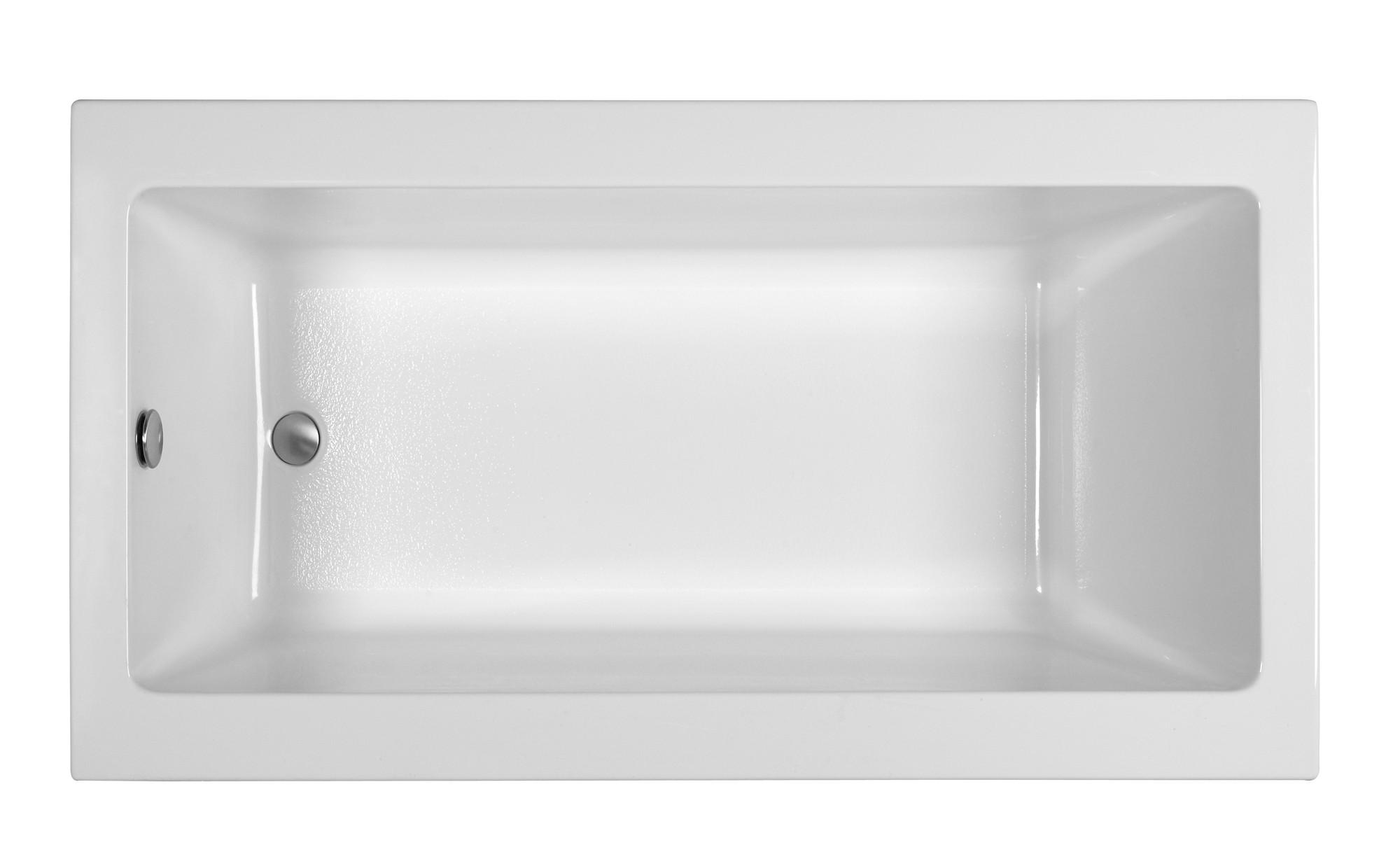 Reliance R6632CRS 66 Inch Rectangular End Drain Soaking Bath