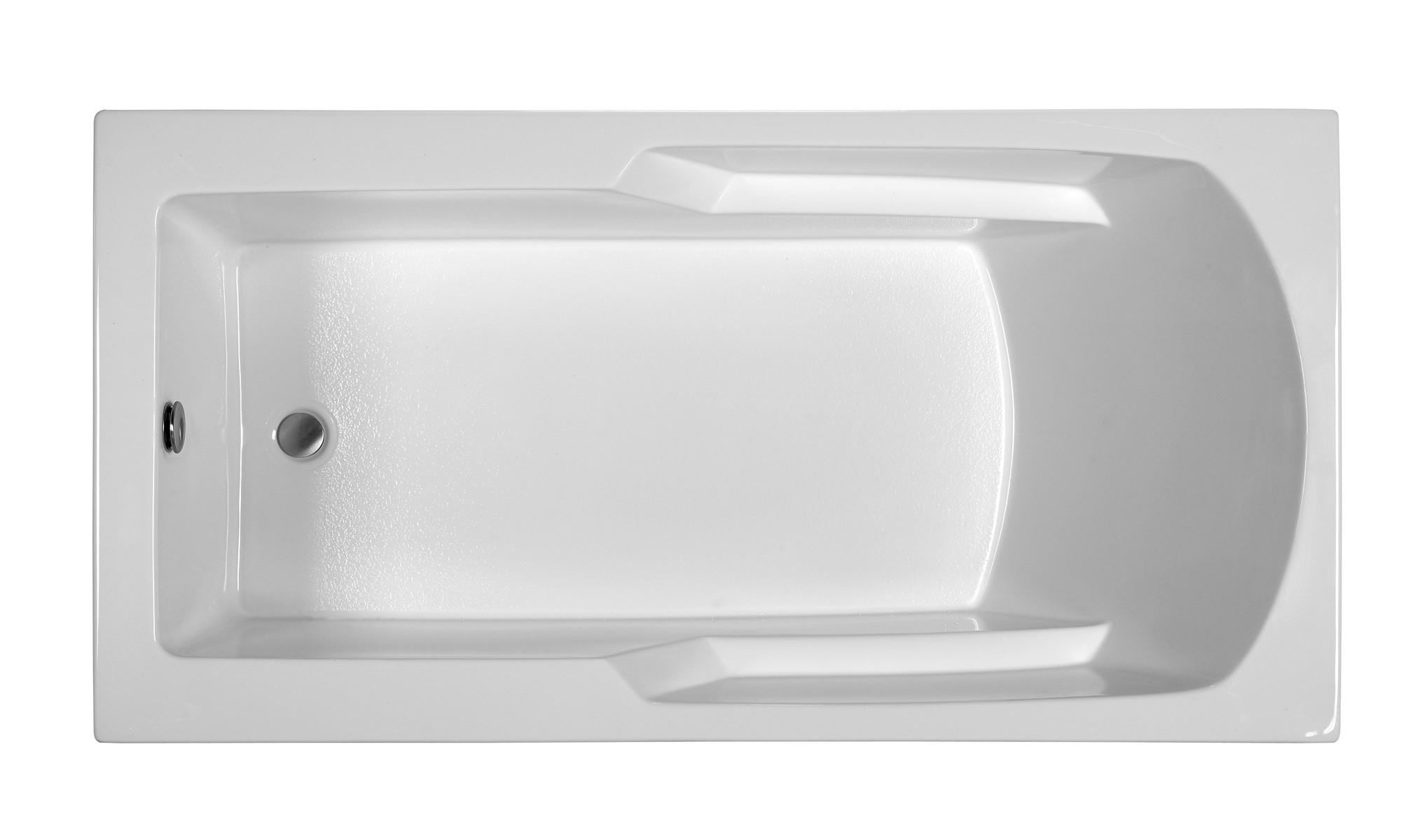 Reliance R6634ERRS 65.75 Inch Rectangular End Drain Soaking Bath
