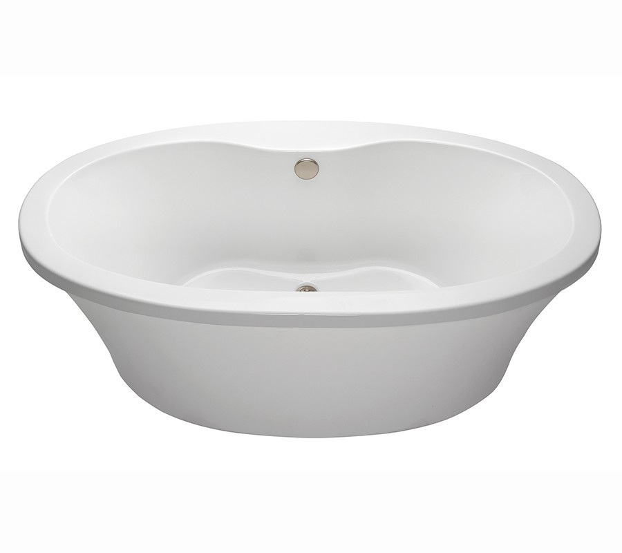 Reliance R6636OFSXS Center Drain Freestanding Soaking Tub With Deck For Faucet