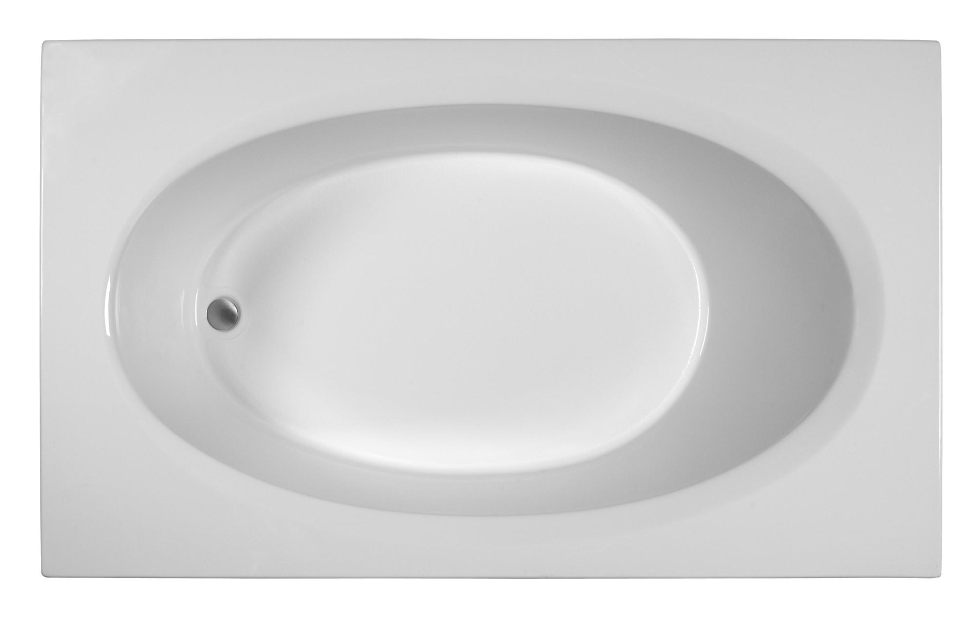 Reliance R7142EROW 71 Inch Rectangular End Drain Whirlpool Bath