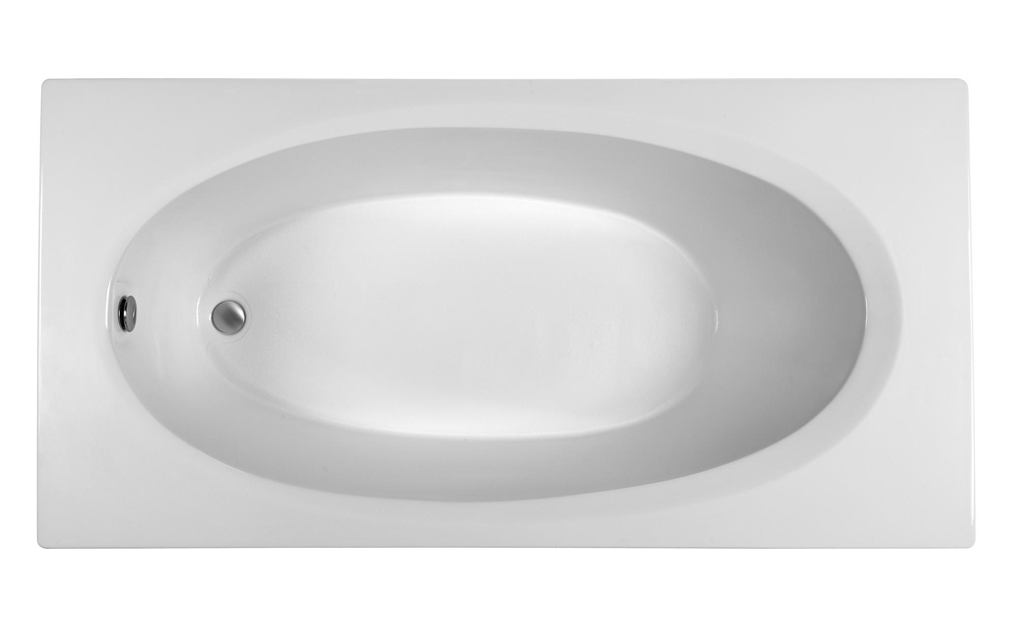 Reliance R7236EROS 71.75 Inch Rectangular End Drain Soaking Bath