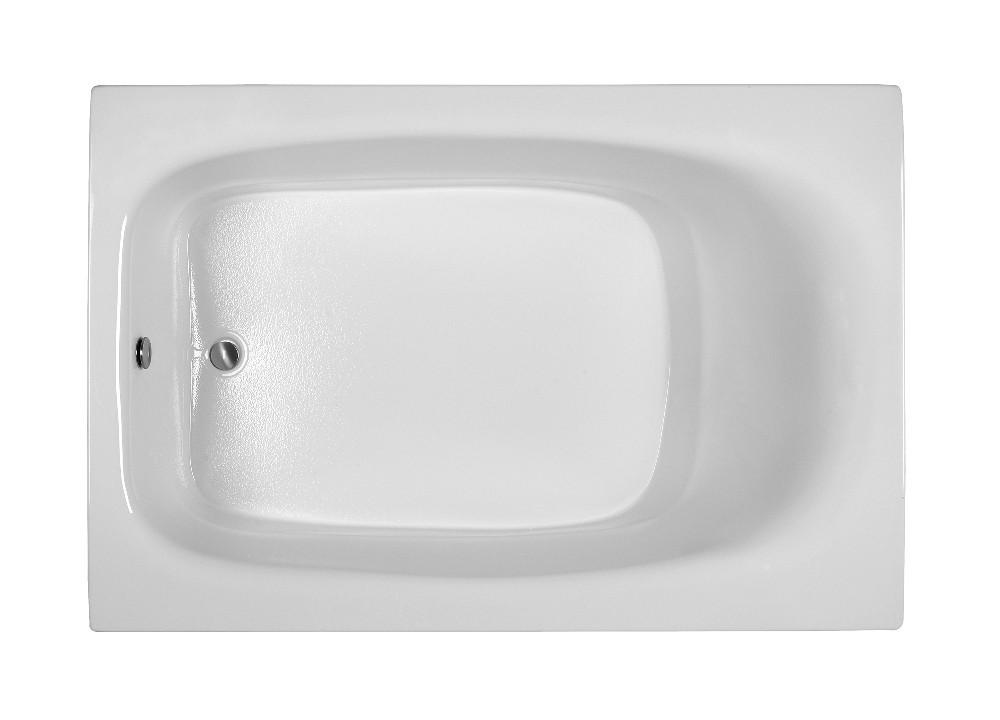 Reliance R7248ERXS 71.25 Inch Rectangular End Drain Soaking Bath