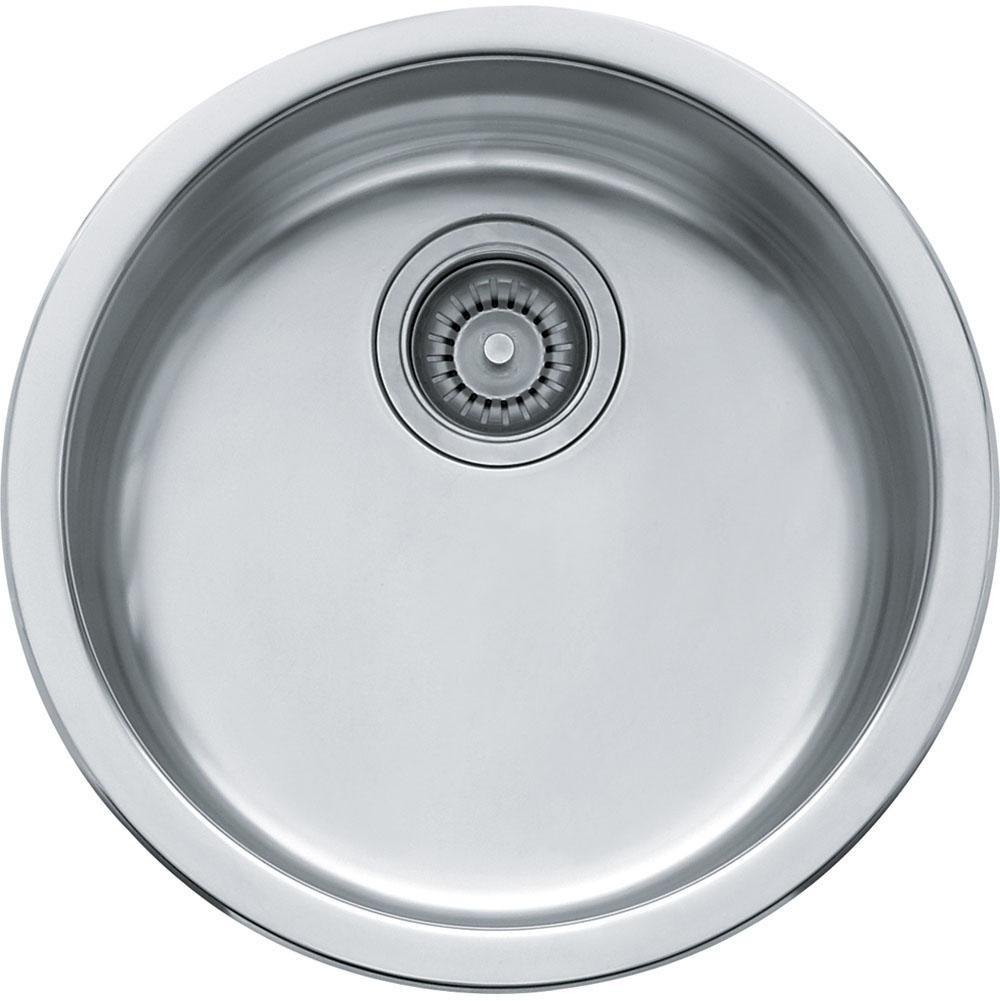 Franke RBX-110 Rotondo Single Bowl Undermount Kitchen Sink in Stainless Steel