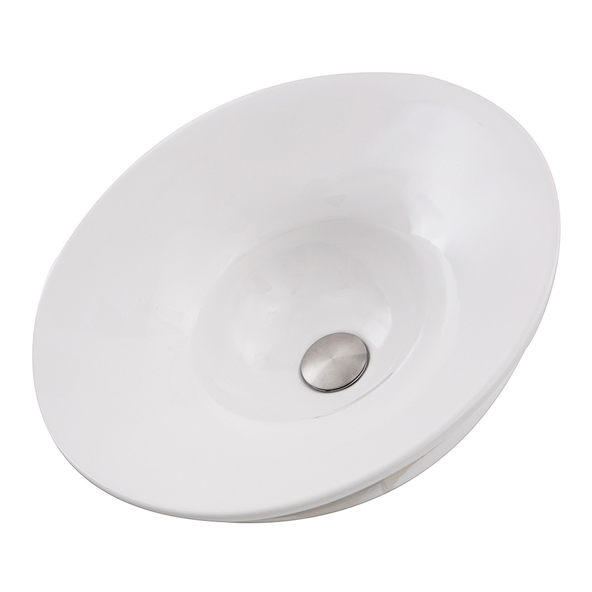 Nantucket Sinks RC77240W Dinard Italian Fireclay Vanity Sink In White
