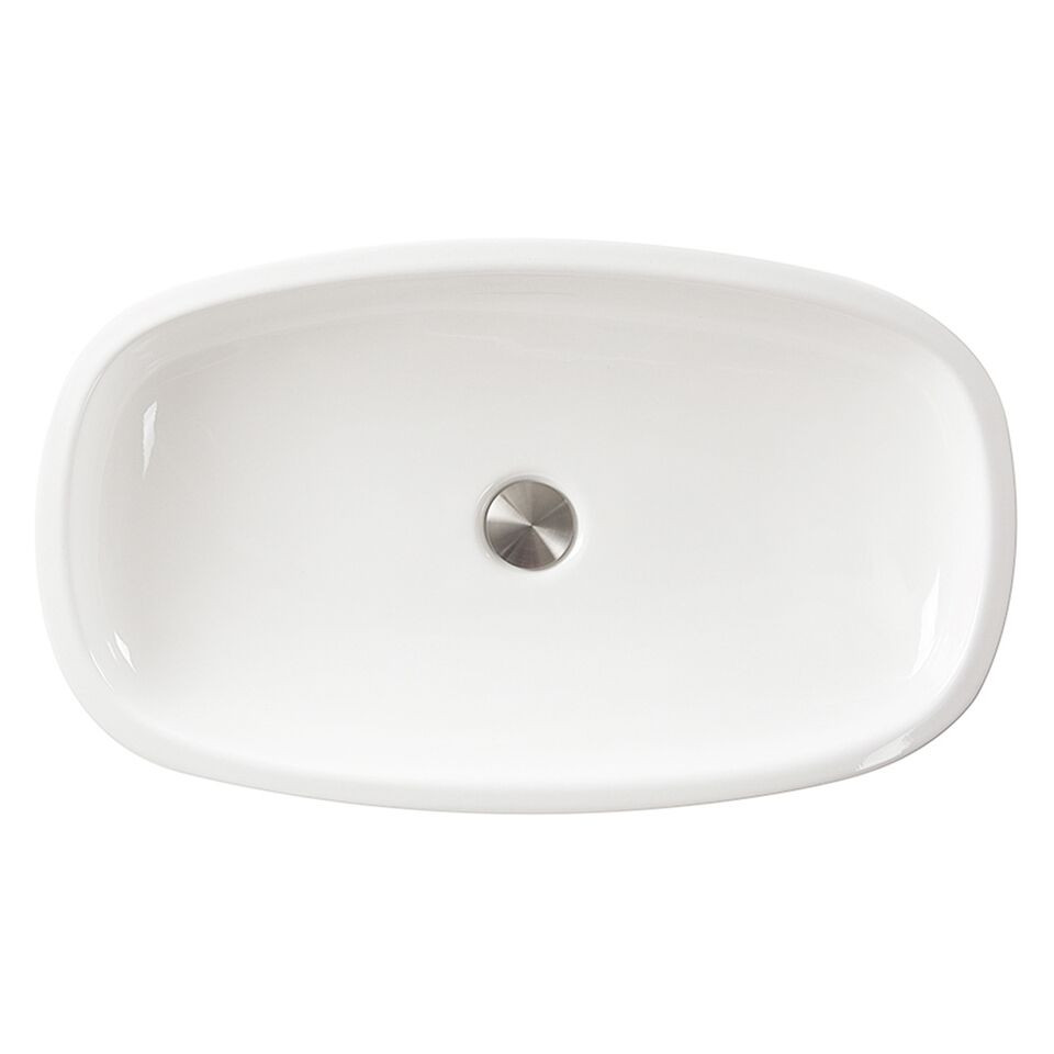 Nantucket Sinks RC79041W Portofino Italian Fireclay Vanity Sink