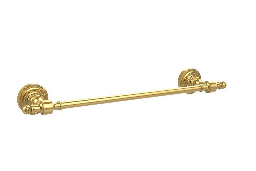 Allied Brass RD-31-18-PB 18 Inch Towel Bar in Polished Brass