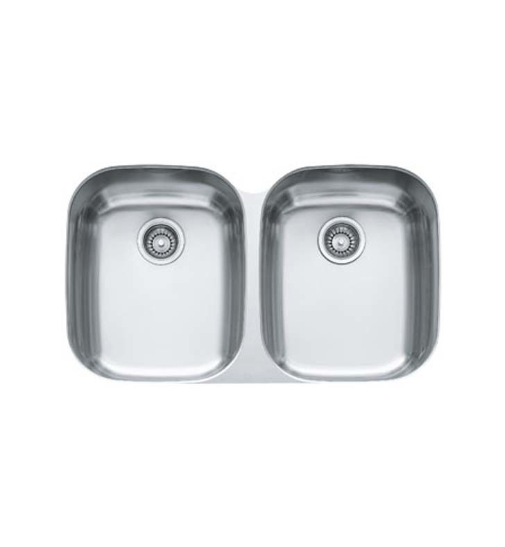 Franke RGX120 Regatta Double Bowl Rectangular Kitchen Sink in Stainless Steel