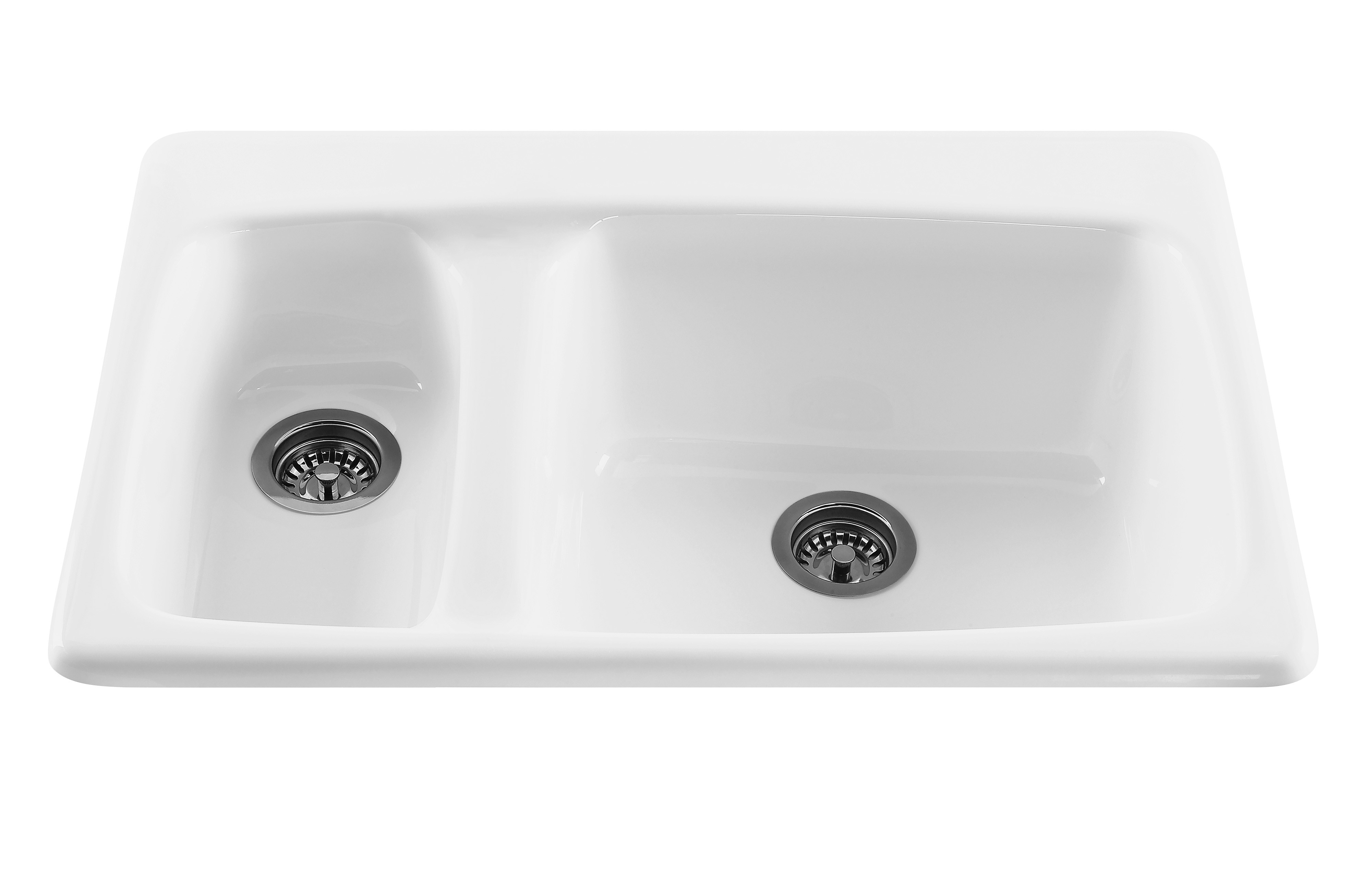 RKS10GRP1 Advantage Acrylic Oversized Right Bowl Sink In Black