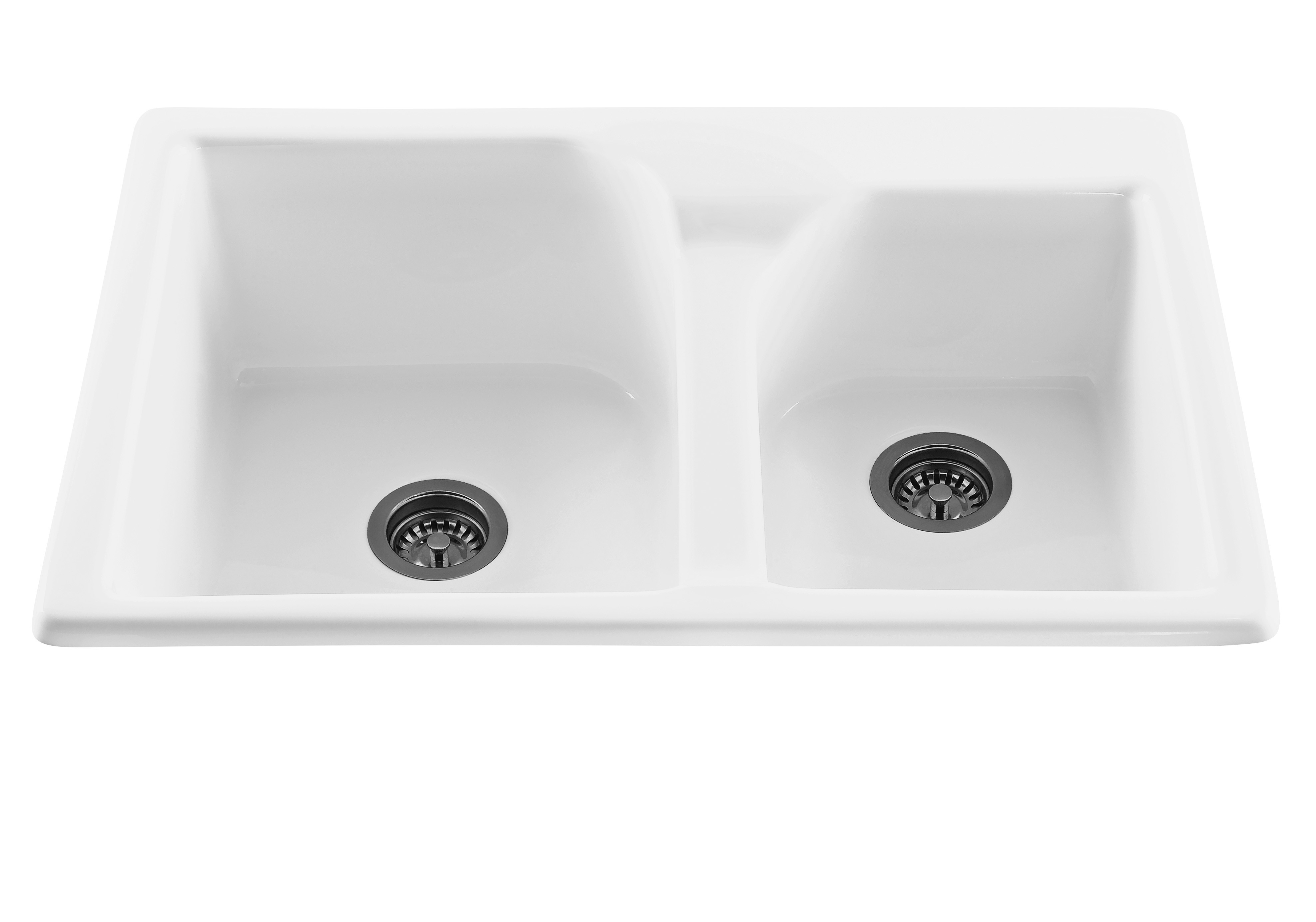 RKS20GRP1 Discovery Drop In Double Bowl Kitchen Sink In Black