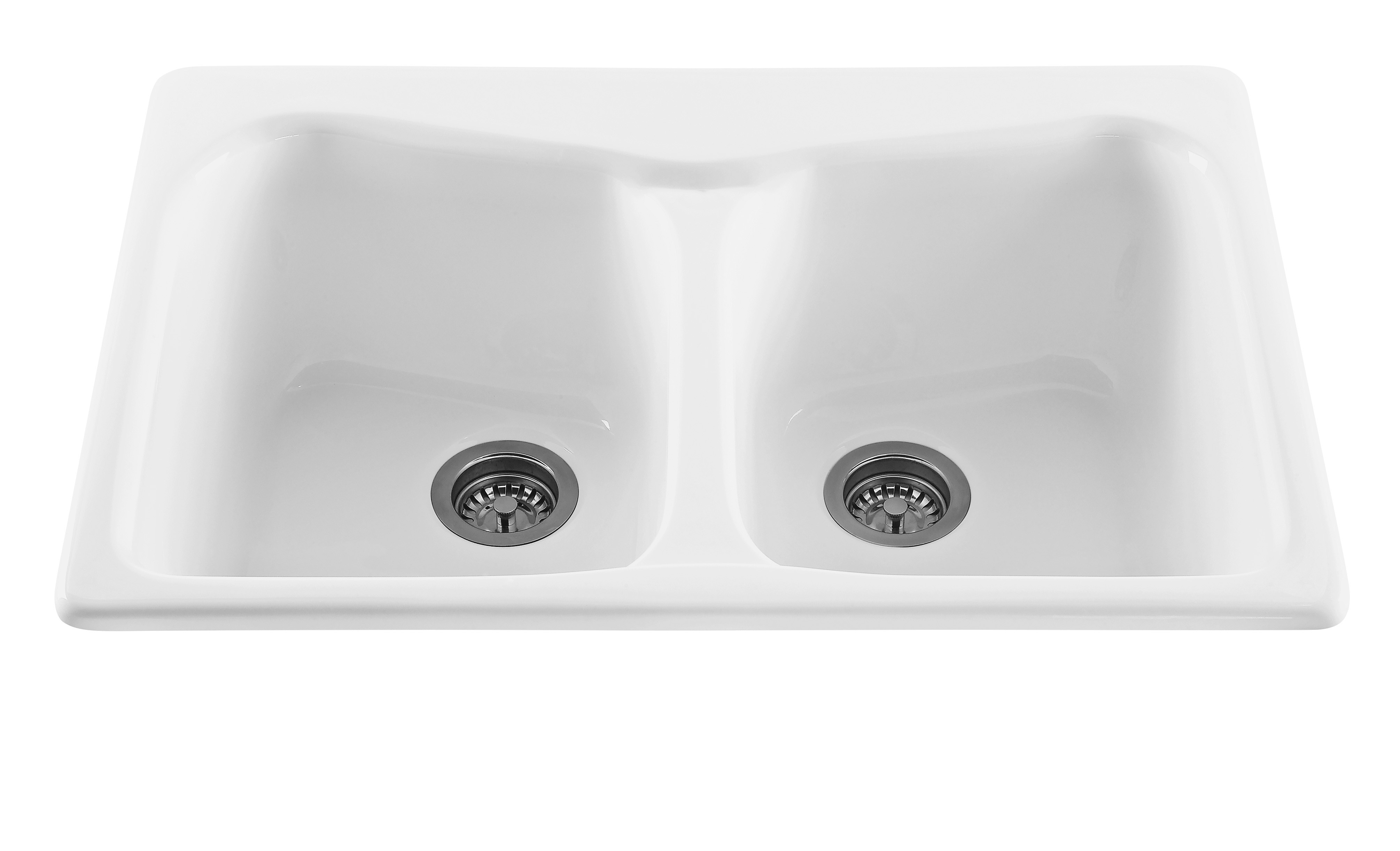 Reliance RKS80 Colonial Acrylic Drop In Double Basin Kitchen Sink