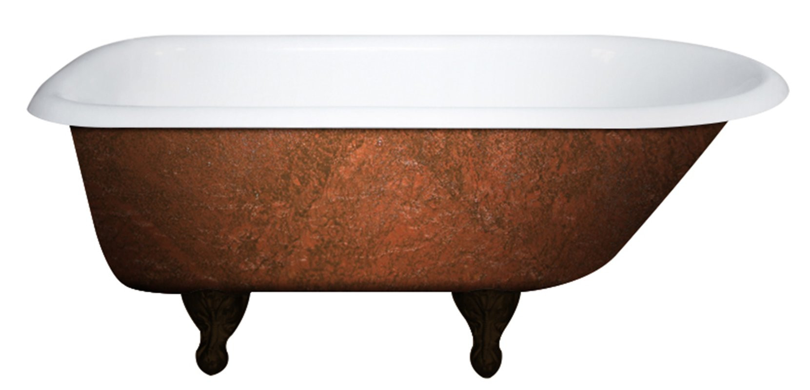 Cambridge RR61-NH-ORB-CB Cast Iron Clawfoot Bathtub w/ No Faucet Drillings