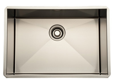 Rohl RSS2416 Single Bowl Stainless Steel Kitchen Sink in Brushed Stainless Steel
