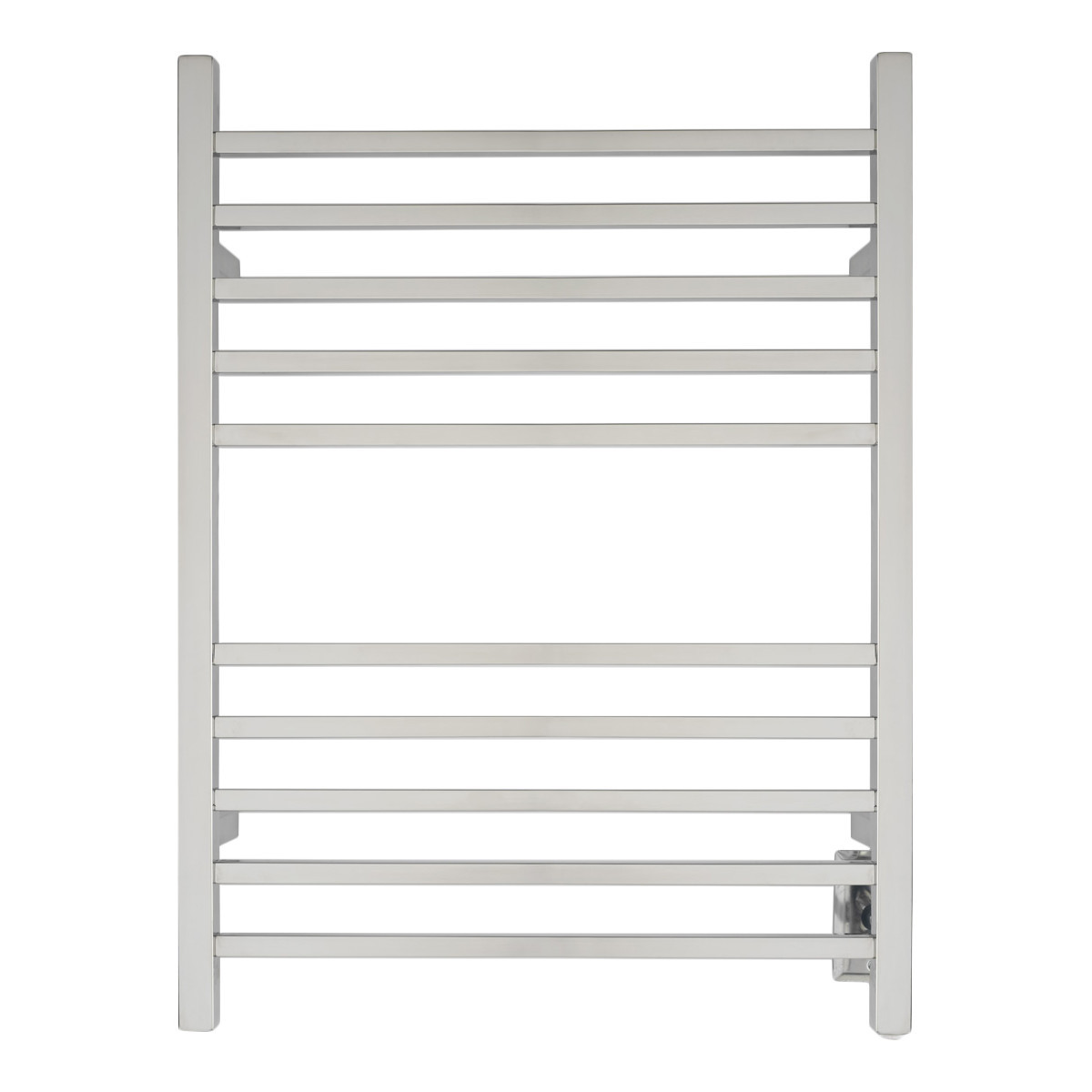 Amba RSWH-P Radiant Wall Mounted Square Hardwired Electric Towel Warmer In Polished Stainless Steel