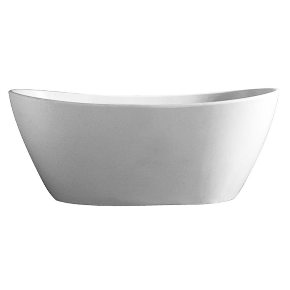 Barclay RTDSN56-OF-WH Edison 56 Inch Resin Free Standing Oval Bathtub In Matte White