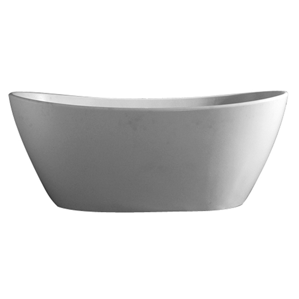 Barclay RTDSN64-OF-WH Electra Resin Double Slipper Soaking Tub In Matte White