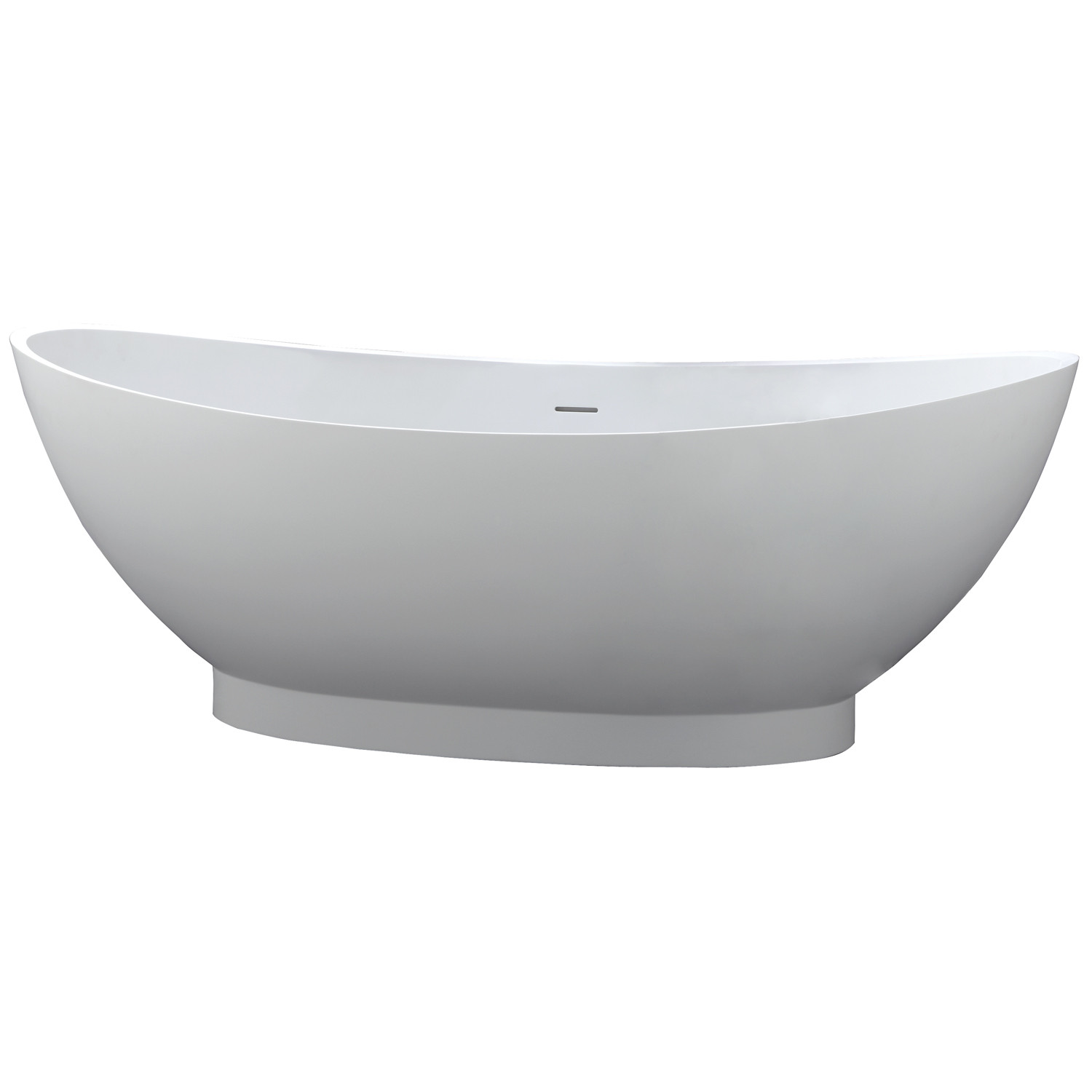 Barclay RTDSN71-WH Juliana 71 Inch Resin Double Slipper Tub In Matte White